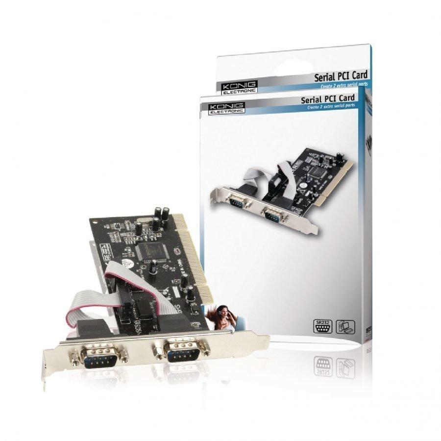 2 väylä Sarja PCI kortti