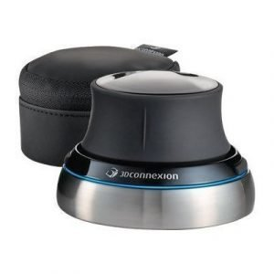 3dconnexion Space Navigator Optinen 3d-liikkeenohjain Musta Hopea