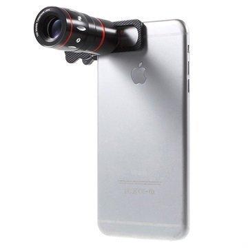 4 in 1 Yleiskäyttöinen Kameran Linssisarja Musta