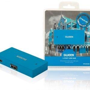 4-porttinen USB-jakaja Curaçao sininen