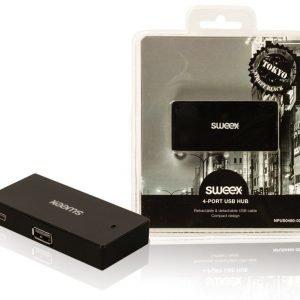 4-porttinen USB-jakaja Tokyo musta