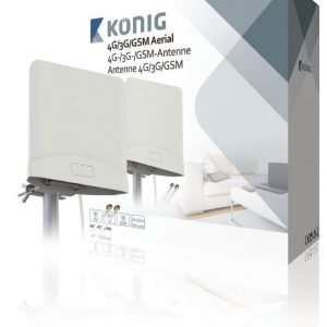 4G/3G/GSM-antenni jossa on 2 x 2 5m:n kaapeli