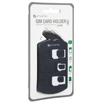 4smarts 2 in 1 SIM-Korttipidike- & Sovitinsetti