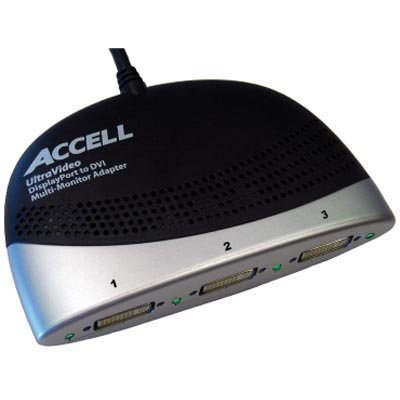 ACCELL jakaja DisplayPort - DVI-D Single Link 20-pin u- 3x24+5-pin n