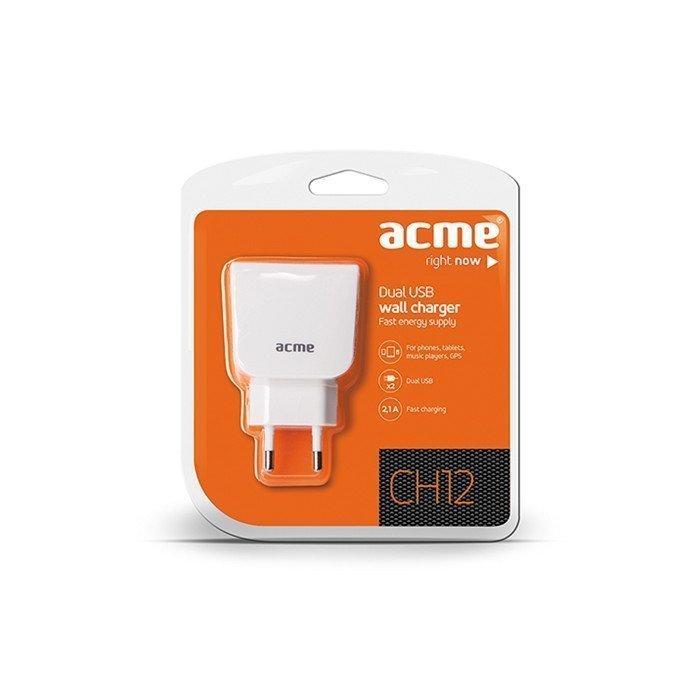ACME CH12 USB laturi - 2.1A - Valkoinen