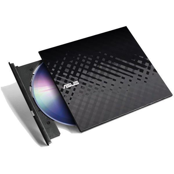 ASUS SDRW-08D2S-U Lite ulkoinen dvd-poltin USB DVD+-R(DL)/DVD+-RW/DVD-RAM/CR-R/CD-RW musta