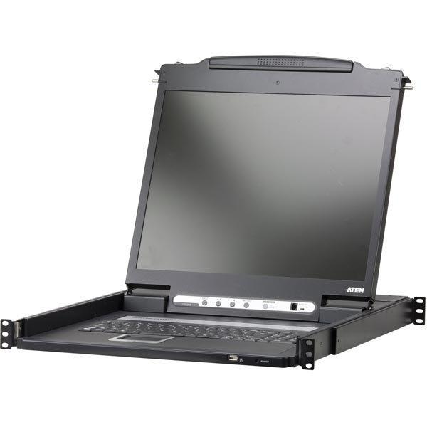 """ATEN 19 KVM-konsoli 19"""" LCD näyttö DVI USB 1U pohjoism.näppäi"""""""