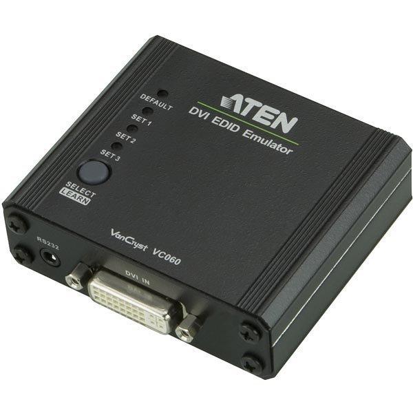 ATEN DVI EDID Emulaattori DVI-I na RS-232 3D HDCP musta