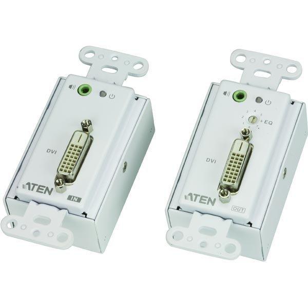 ATEN DVI ja audiojatke Ethernet kaapeliin jopa 60 m valk