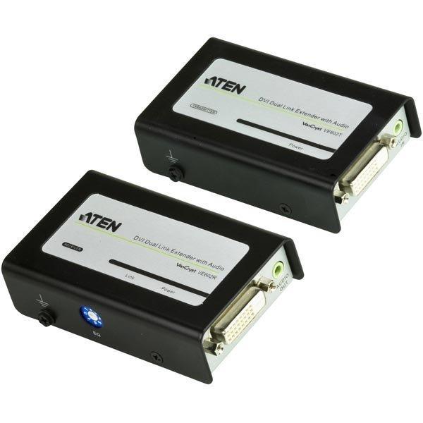 ATEN DVI ja audiojatke Ethernet kaapelissa jopa 60m mu/harmaa