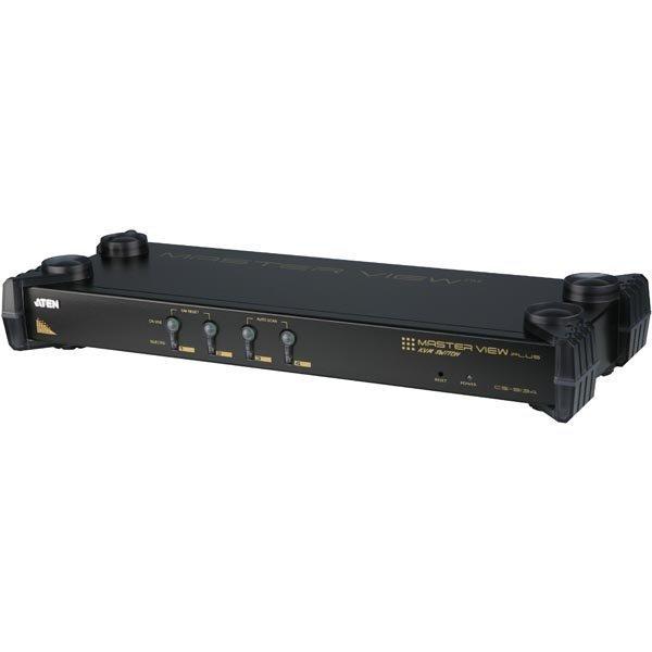 ATEN KVM-kytkin 1 konsoli - 4 konetta VGA ur PS/2 OSD musta