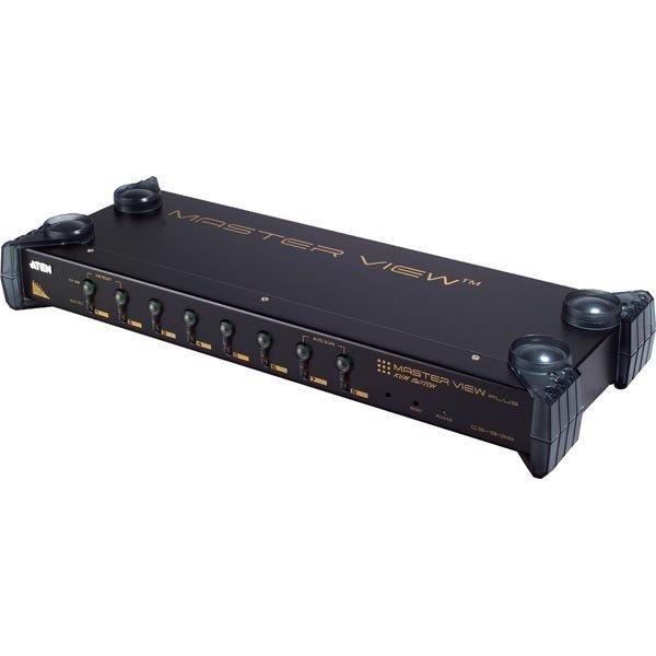 """ATEN KVM-kytkin 1 konsoli 8 tietokonetta 19 OSD VGA ja PS/2 mu"""""""