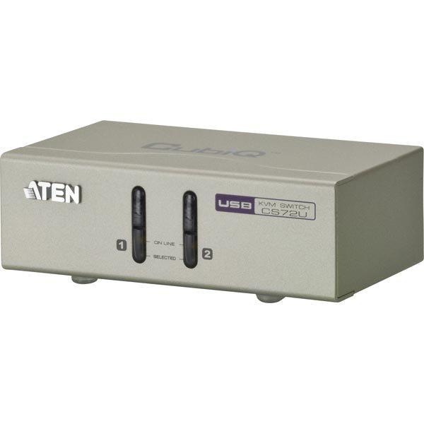 ATEN KVM-kytkin 1 pääte ohjaa 2 konetta VGA/USB