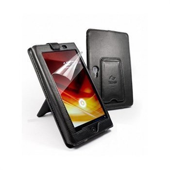 Acer A100 Iconia Tuff-Luv Sleek Jacket Nahkakotelo Musta