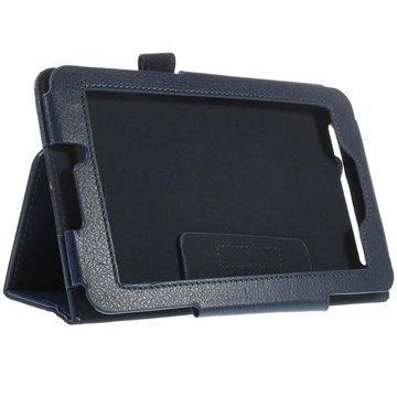 Acer Iconia Tab 7 A1-713 Kannellinen Nahkakotelo Tummansininen