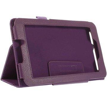 Acer Iconia Tab 7 A1-713 Kannellinen Nahkakotelo Violetti