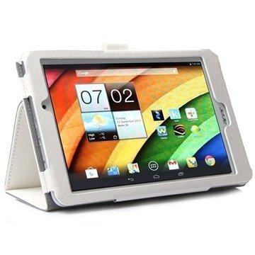 Acer Iconia Tab 8 A1-840FHD Smart Taitettava Nahkakotelo Valkoinen