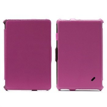 Acer Iconia Tab B1-A71 Folio nahkakotelo rannehihnalla Kuuma Pinkki