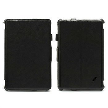 Acer Iconia Tab B1-A71 Folio nahkakotelo rannehihnalla Musta