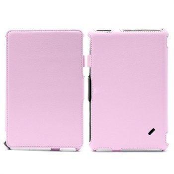 Acer Iconia Tab B1-A71 Folio nahkakotelo rannehihnalla Pinkki
