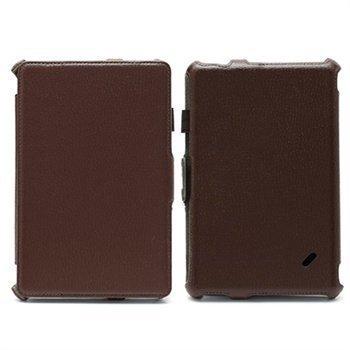 Acer Iconia Tab B1-A71 Folio nahkakotelo rannehihnalla Ruskea
