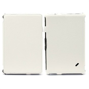 Acer Iconia Tab B1-A71 Folio nahkakotelo rannehihnalla Valkoinen