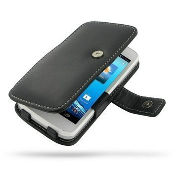 Acer Liquid Gallant Duo PDair Leather Case 3BACE5B41 Musta
