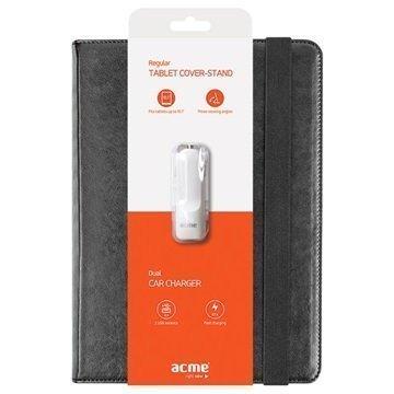 Acme 10T59BL 10.1 Tabletin suojakotelo ja Acme CH11 Autolaturi