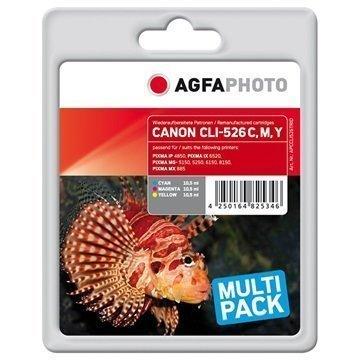 AgfaPhoto APCCLI526TRID Mustekasetti Monipakkaus Canon CLI-526 3 Väriä