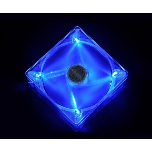 Akasa kotelotuuletin 139x139x25mm siniset LED-lamput