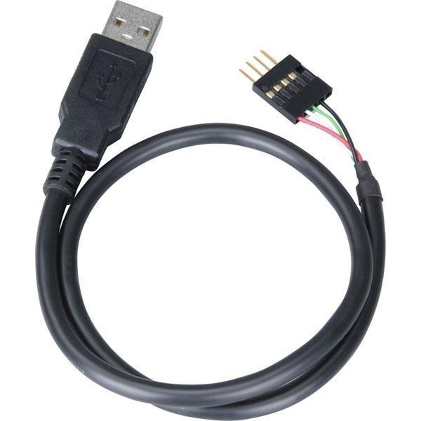 Akasa sisäinen 5-pin USB -> ulkoinen Tyyppi A Uros 0 4m