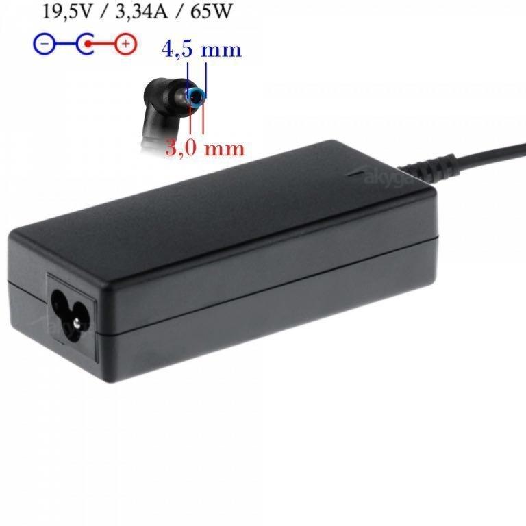 Akyga HP Kannettavan tietokoneen laturi - 19.5 v 3.33 A Liitin 4 5 x 3 mm keskipinnillä 65 Wattia