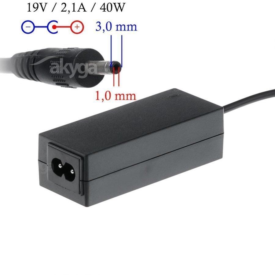 Akyga Samsung Kannettavan tietokoneen laturi - 19 v 2 1 A Liitin 3 x 1 mm