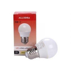 Alledra Led-lamppu E27 240v 3w Pallo 240lm Lämpimänvalkoinen