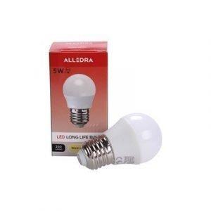 Alledra Led-lamppu E27 240v 5w Pallo 350lm Lämpimänvalkoinen