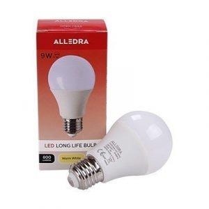 Alledra Led-lamppu E27 240v 9w Pallo 800lm Lämpimänvalkoinen