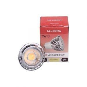 Alledra Led-lamppu Gu10 5w Spot 38° Lämpimänvalkoienen