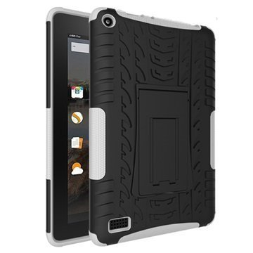 Amazon Fire 7 Anti-Slip Hybrid Case Black / White