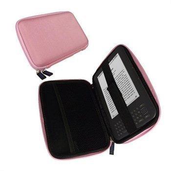 Amazon Kindle 3 Wi-Fi iGadgitz EVA Kova Kuljetuskotelo Vaaleanpunainen