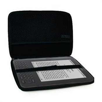 Amazon Kindle 3 Wi-Fi iGadgitz EVA Kova Kuljetuslaukku Musta