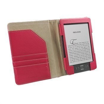 Amazon Kindle 4 iGadgitz Organizer Nahkakotelo Pinkki