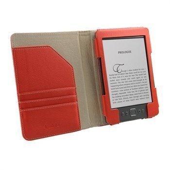Amazon Kindle 4 iGadgitz Organizer Nahkakotelo Punainen