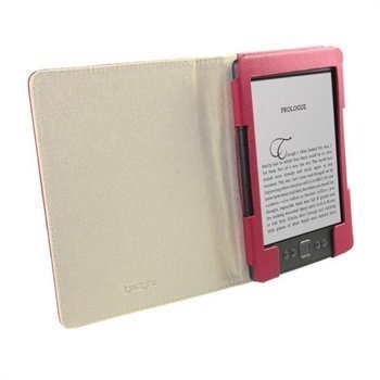 Amazon Kindle 4 iGadgitz Slimline Nahkakotelo Pinkki