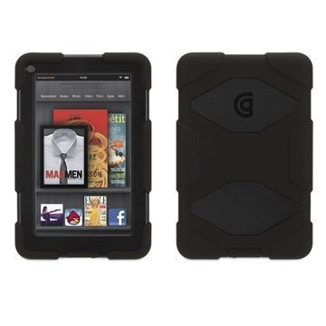 Amazon Kindle Fire 7 Griffin Survivor Silikonikotelo Musta