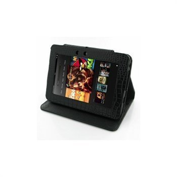 Amazon Kindle Fire HD 7 PDair Leather Case GBAMK7BX1 Musta