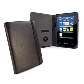 Amazon Kindle Fire HD 7 Tuff-Luv Embrace Plus Tekonahkainen Kotelo Musta