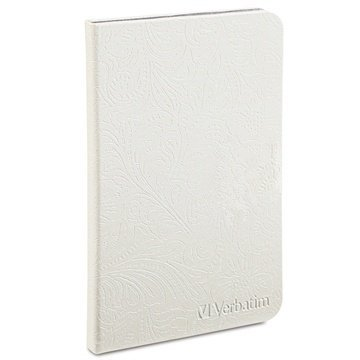 Amazon Kindle Fire HD 7 Verbatim Folio Case Pearl White