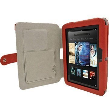 Amazon Kindle Fire HD 7 iGadgitz Guardian Tri-View Nahkakotelo Punainen