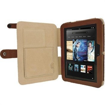 Amazon Kindle Fire HD 7 iGadgitz Guardian Tri-View Nahkakotelo Ruskea
