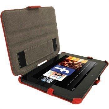 Amazon Kindle Fire HD 7 iGadgitz Nahkakotelo Punainen